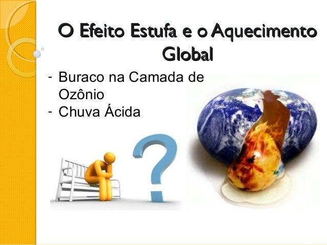 O Efeito Estufa e o AquecimentoO Efeito Estufa e o Aquecimento GlobalGlobal - Buraco na Camada de Ozônio - Chuva Ácida