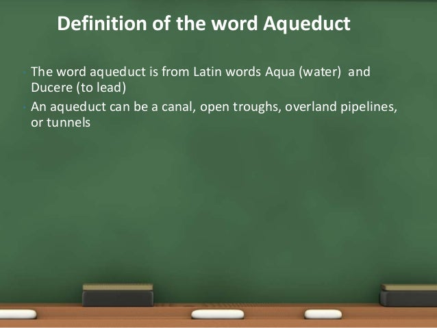 what does the word aqueduct mean