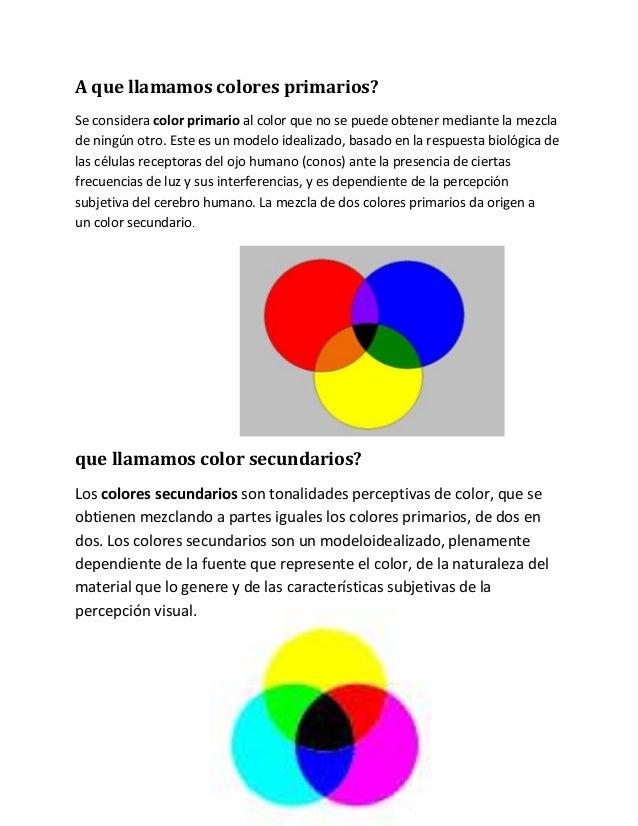 a que llamamos colores primarios