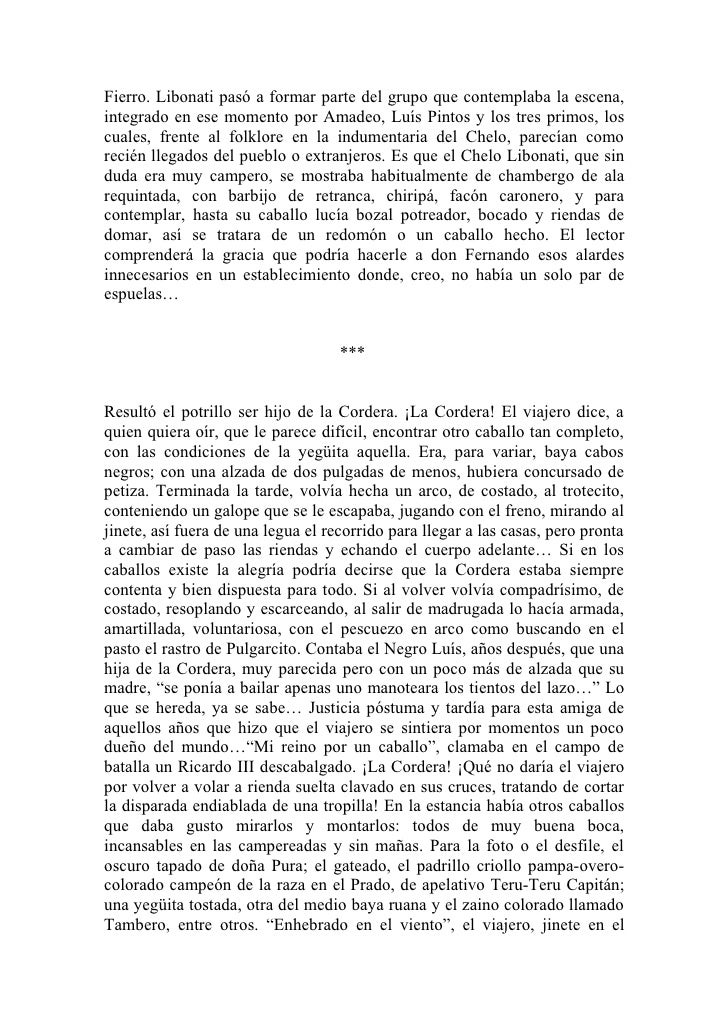 Fierro. Libonati pasó a formar parte del grupo que contemplaba la escena,integrado en ese momento por Amadeo, Luís Pintos ...