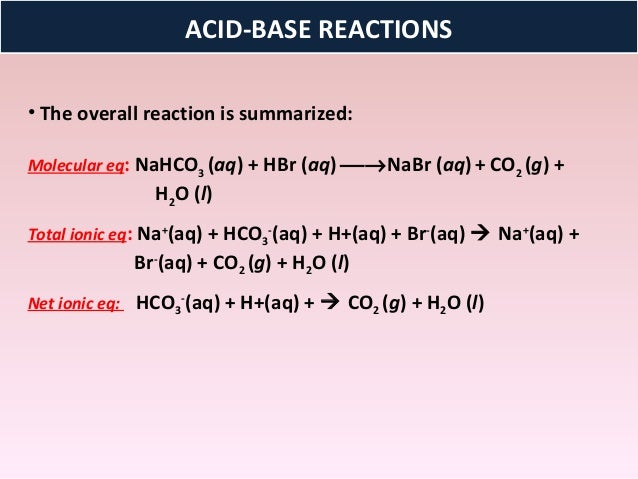 Carbonate acid reaction