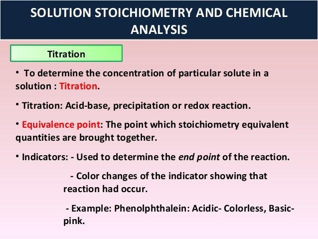 Stoichiometry of a precipitation reaction