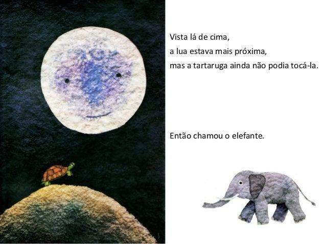- Sobe para as minhas costas, talvez cheguemos à lua.A lua pensou que se tratava de um jogo e, à medida que o elefante se ...