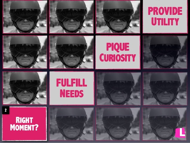 PROVIDE Utility PIQUE Curiosity FULFILL Needs 2  Right Moment?