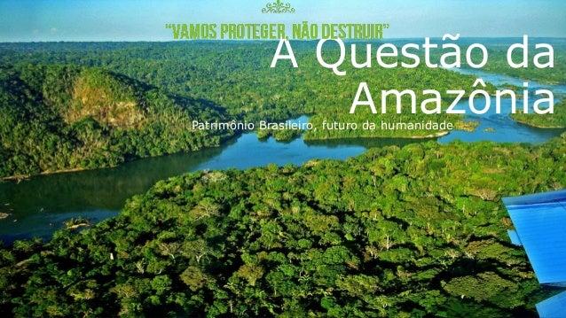 A Questão da AmazôniaPatrimônio Brasileiro, futuro da humanidade
