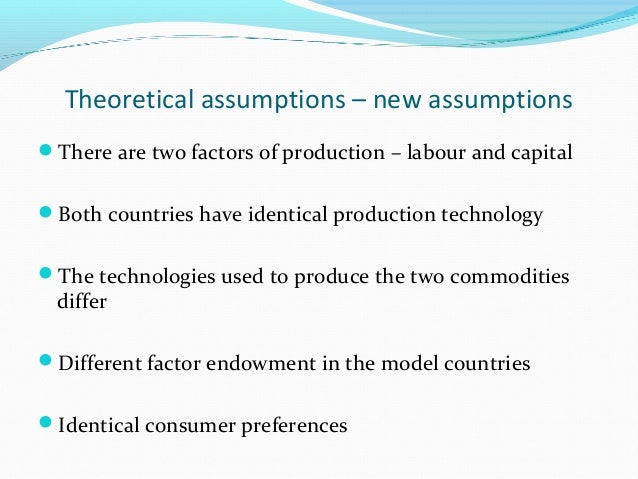 the leontief paradox and the new Following a long development of models that tried to construe trade based on production advantages and production factor endowment and subsequent to the onset of the leontief paradox, the theory, first proposed by staffan burenstam linder in 1961, asserted that the structure and similarities of demand found in world economies dictated larger flows of trade (linder, 1961.