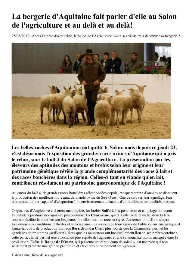 Aqui!Presse - spécial salon de l'agriculture 2013