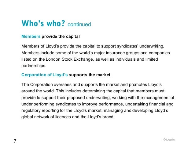 A Quick Guide To Lloyd S April 2010