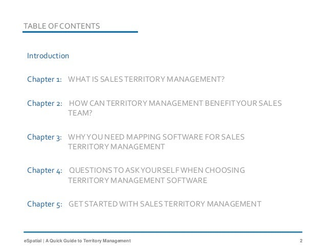 A Quick Guide to Sales Territory Management by eSpatial