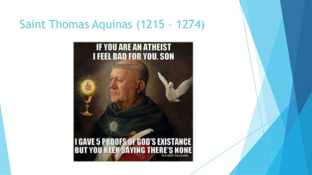 st thomas aquinas teleological argument vs Also st thomas brings forth his five way, or five proofs for the existence of god aquinas offers 5 arguments for the existence of god.