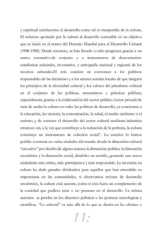 """12: dependencias específicamente culturales y se vuelve indispensable """"culturizar"""" los planes estratégicos y las visiones ..."""