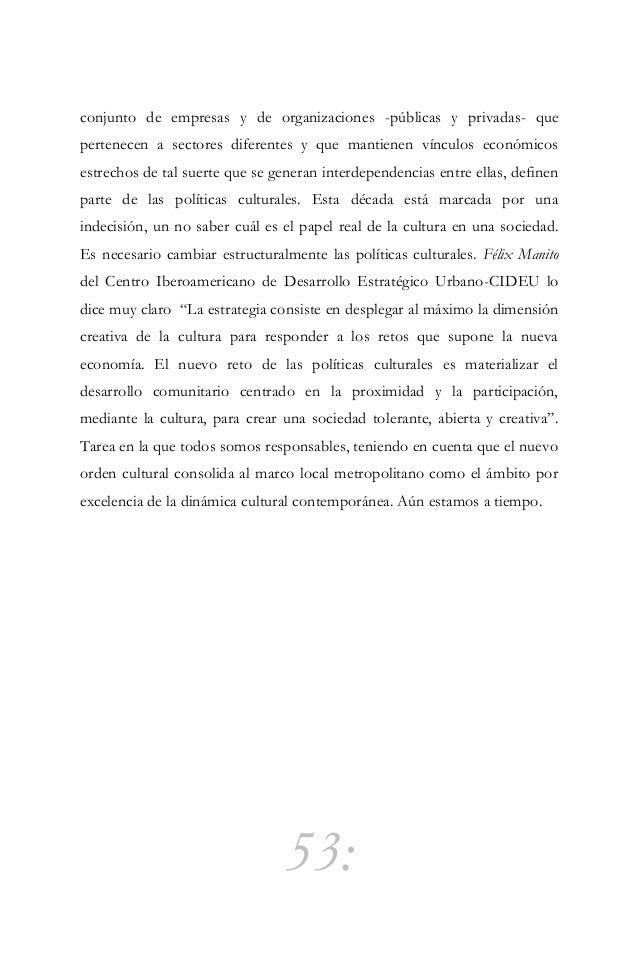 """54: Diplomacia cultural """"La diplomacia cultural es el instrumento de ejecución de la política exterior (…) hablar de una """"..."""