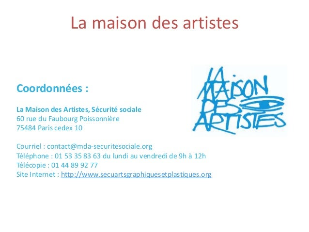 Statut maison des artistes ventana blog for Affiliation maison des artistes