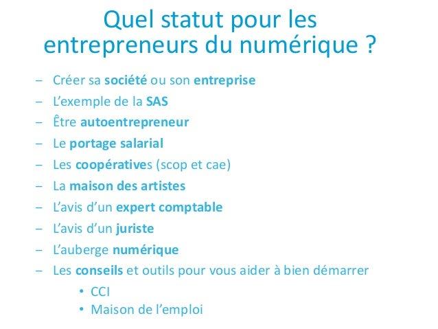Quel Statut Pour Les Entrepreneurs Du Numerique