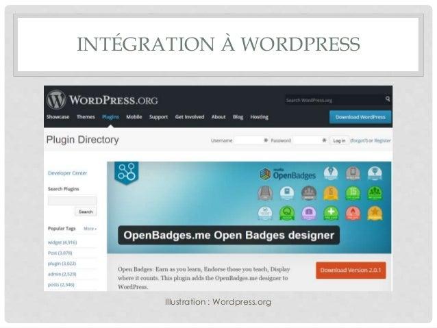 INTÉGRATION À WORDPRESS Illustration : Wordpress.org