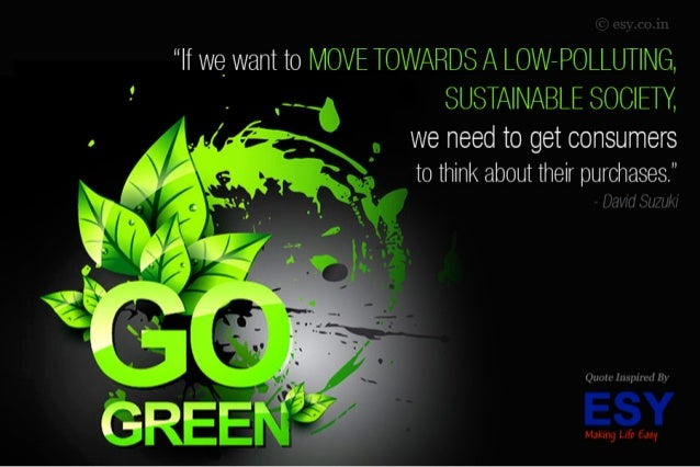 """""""If we_ want to MOVE TOWARDS A LOW~POLLUT