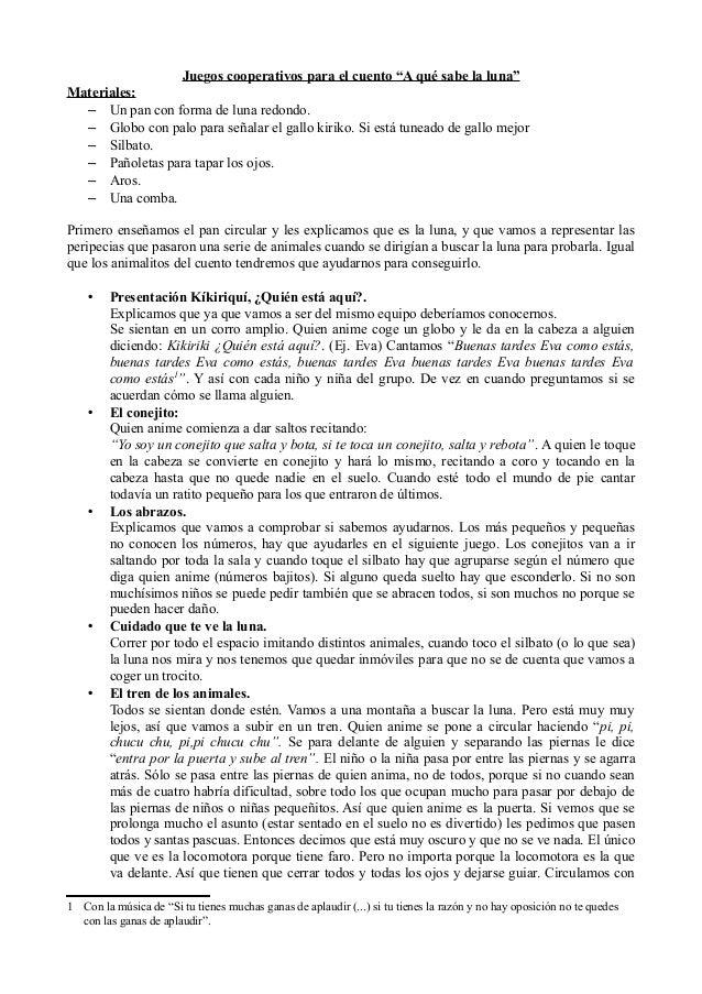 """Juegos cooperativos para el cuento """"A qué sabe la luna""""Materiales:  – Un pan con forma de luna redondo.  – Globo con palo ..."""