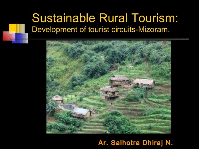 Sustainable Rural Tourism Mizoram India