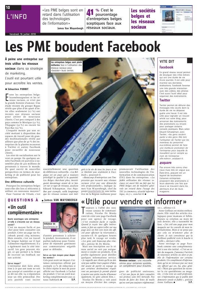 10    L'INFO                                                                « Les PME belges sont en                      ...
