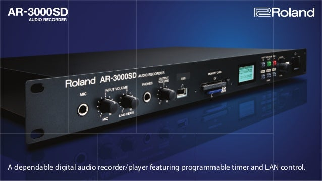 A dependable digital audio recorder/player featuring programmable timer and LAN control.