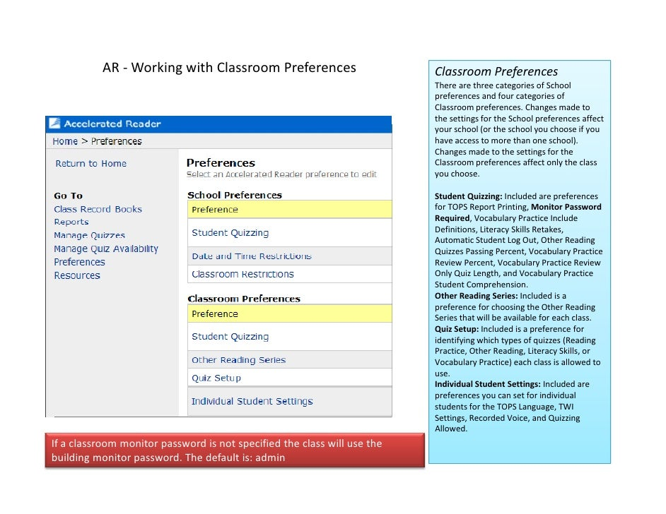 AR‐ WorkingwithClassroomPreferences                         ClassroomPreferences                                     ...