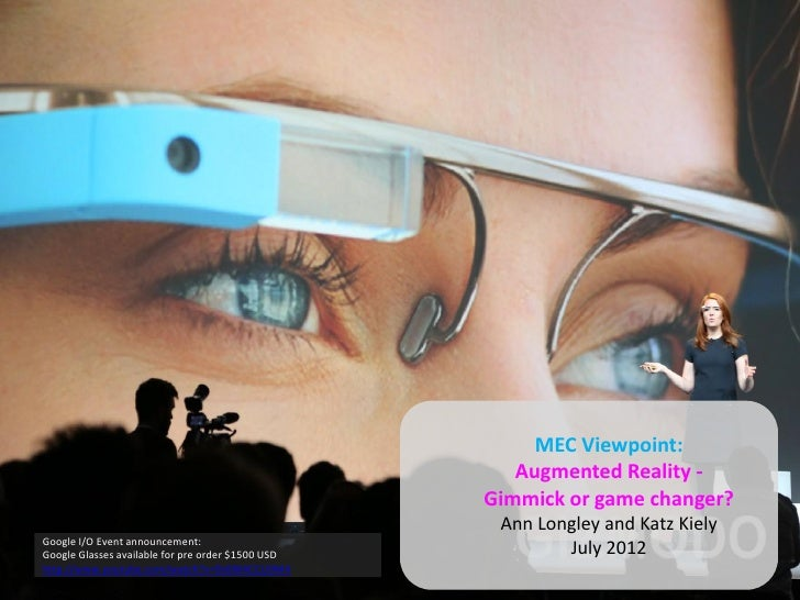 MEC Viewpoint:                                                      Augmented Reality -                                   ...
