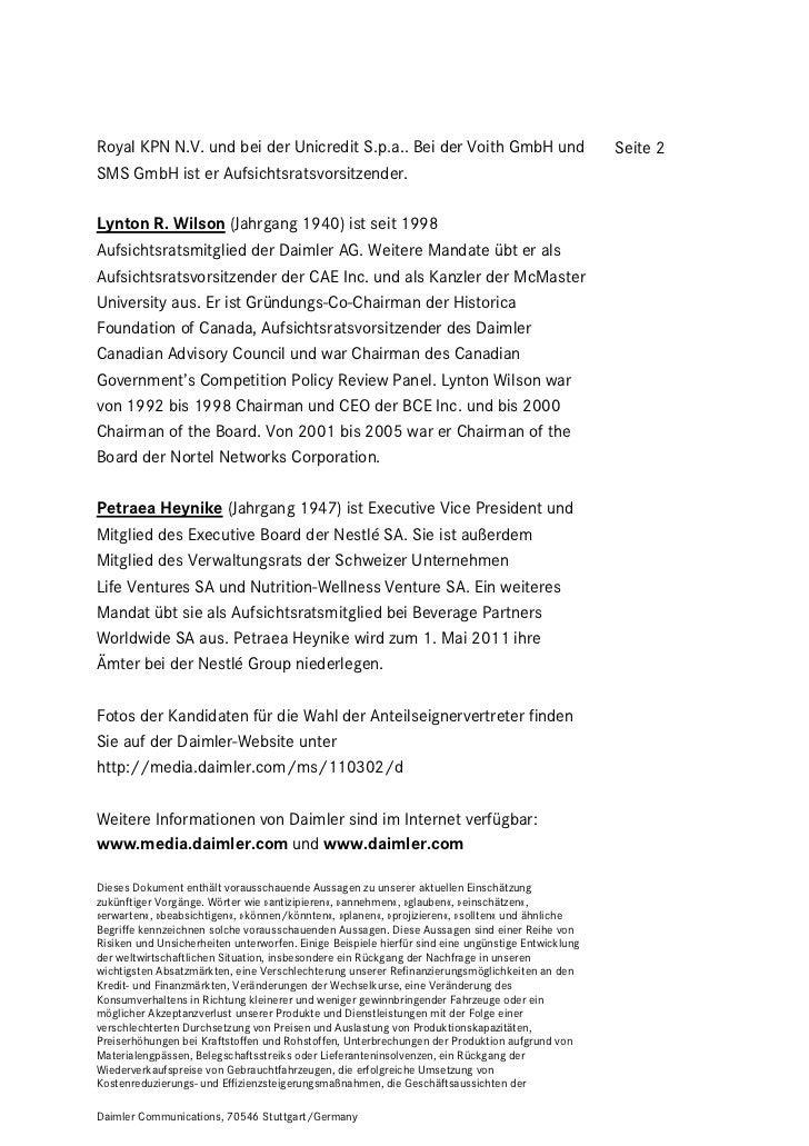 Royal KPN N.V. und bei der Unicredit S.p.a.. Bei der Voith GmbH und                                 Seite 2SMS GmbH ist er...