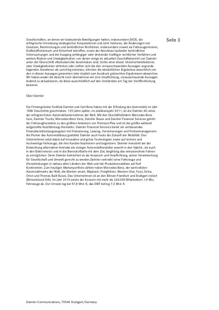 Gesellschaften, an denen wir bedeutende Beteiligungen halten, insbesondere EADS, die                 Seite 3erfolgreiche U...