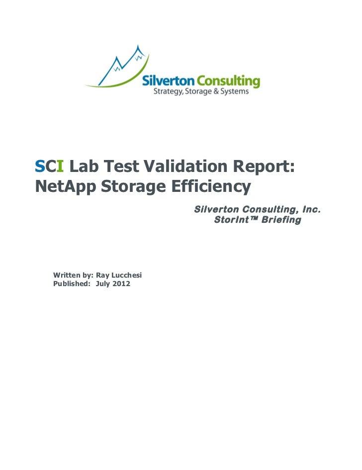 SCI Lab Test Vali...