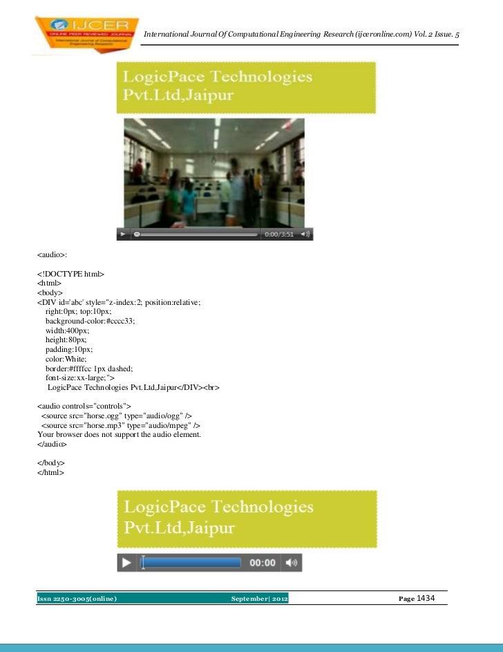 International Journal Of Computational Engineering Research (ijceronline.com) Vol. 2 Issue. 5<audio>:<!DOCTYPE html><html>...