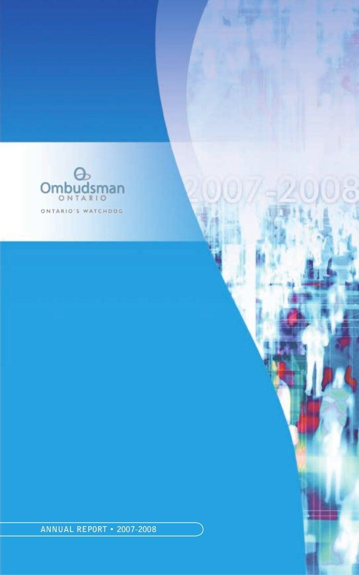 ANNUAL REPORT • 2007-2008