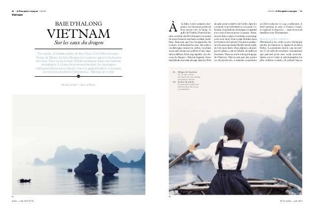 BAIE D'HALONG VIETNAMSur les eaux du dragon Nicolas Cornet — Textes & Photos Vers midi, à l'embarcadère de Bai Chay c'est ...