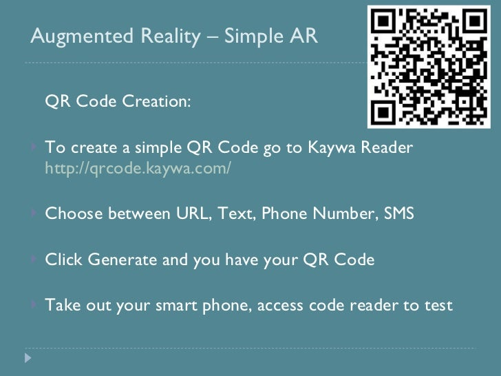 simple application of augmented reality