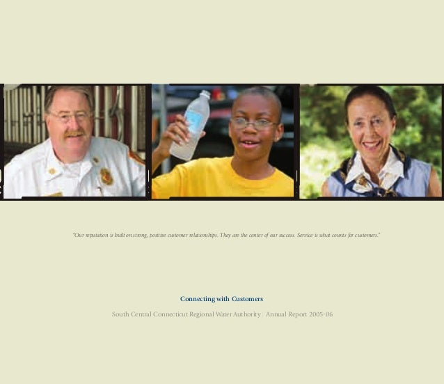 """Connecting with Customers South Central Connecticut Regional Water Authority 