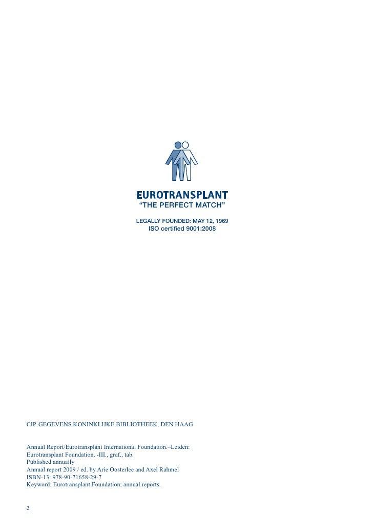Ar 2009 eurotranspolant