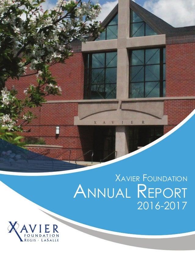 Xavier Foundation Annual Report 2016-2017