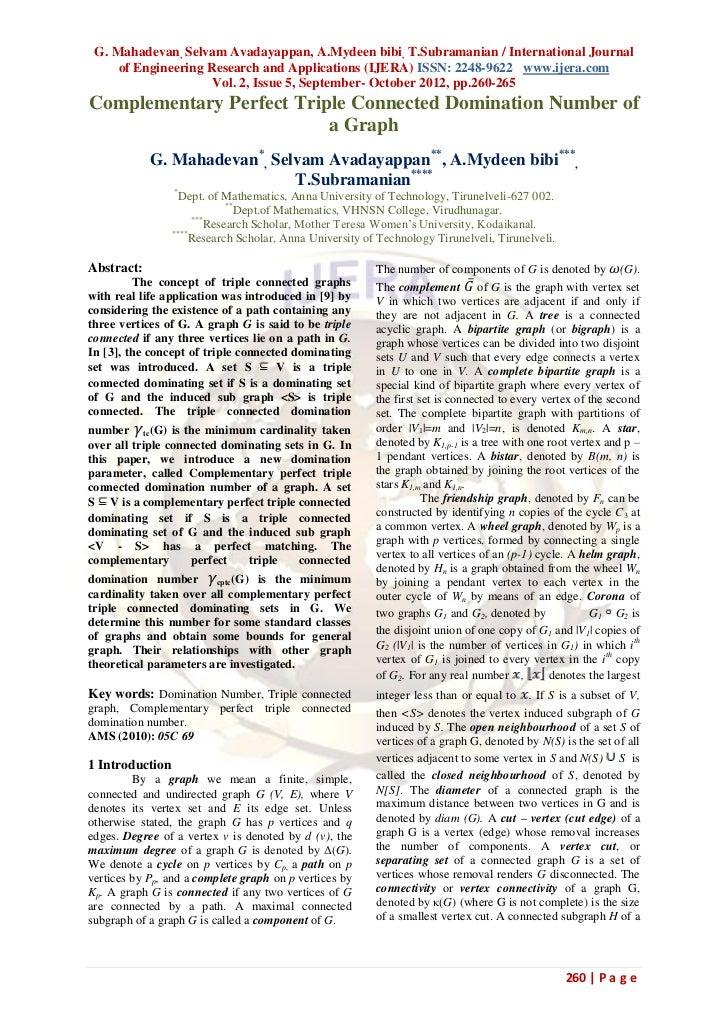 G. Mahadevan, Selvam Avadayappan, A.Mydeen bibi, T.Subramanian / International Journal     of Engineering Research and App...