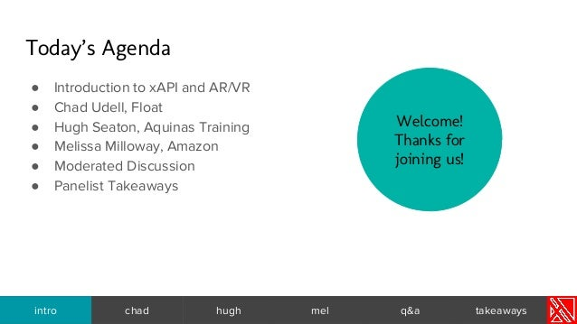 VR/AR + xAPI: Tracking Next-Gen Learning Slide 2