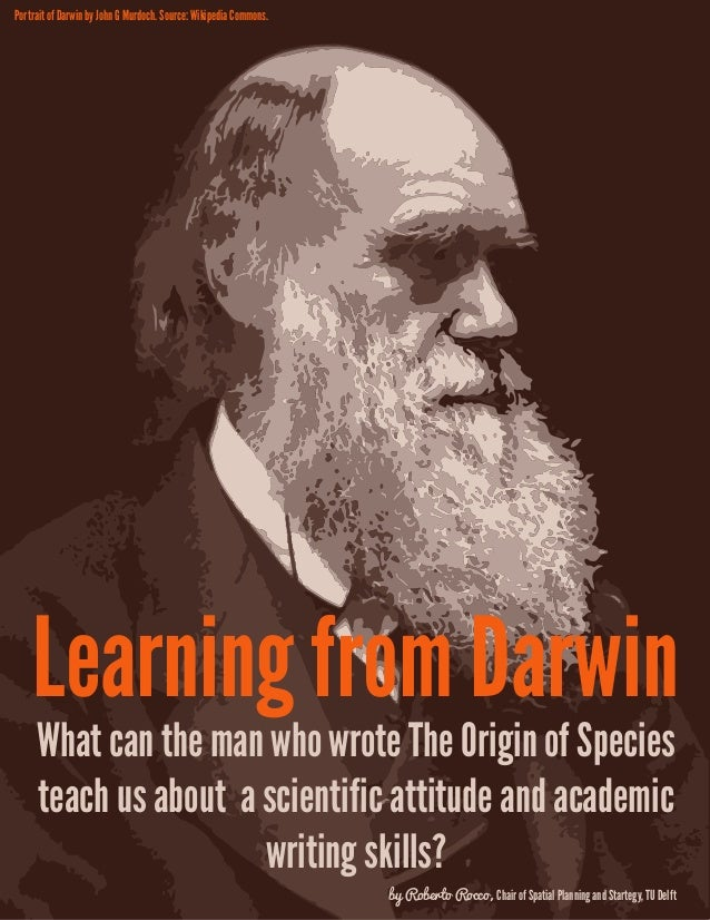 Portrait of Darwin by John G Murdoch. Source: Wikipedia Commons.  Learning from Darwin What can the man who wrote The Orig...