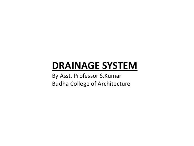 Drainage system ar 308 unit 3 for House drainage system ppt