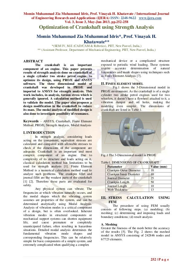 Momin Muhammad Zia Muhammad Idris, Prof. Vinayak H. Khatawate / International Journalof Engineering Research and Applicati...
