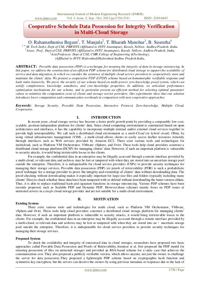 www.ijmer.com  International Journal of Modern Engineering Research (IJMER) Vol. 3, Issue. 5, Sep - Oct. 2013 pp-2726-2741...
