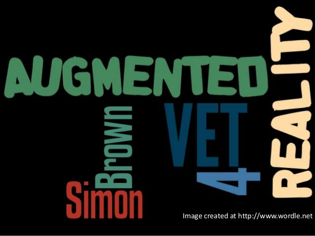 Augmented Reality for VET: Simon Brown. Presented at SkillsTech Australia Staff Day 26th July 2013 Image created at http:/...