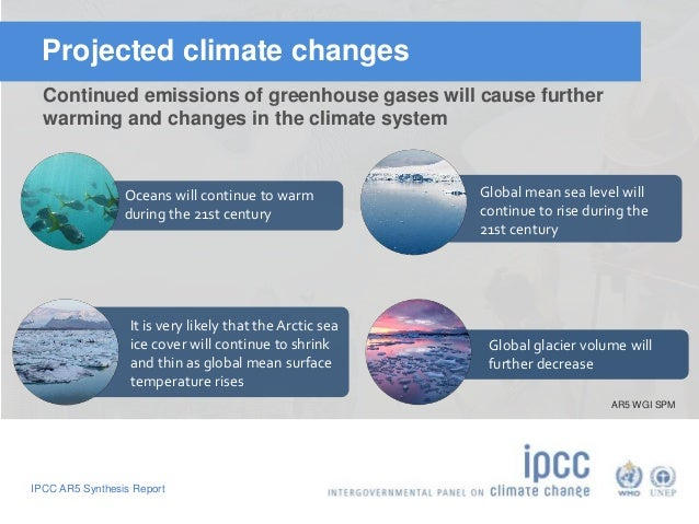 Projected climate changes  Continued emissions of greenhouse gases will cause further  warming and changes in the climate ...