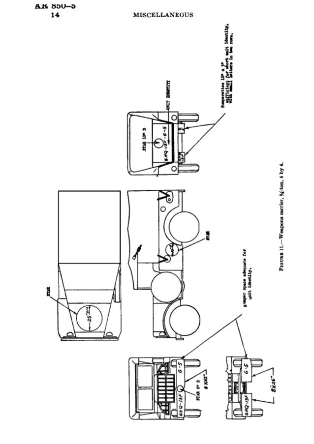 ILH:  8OU—3 14        MISCELLANEOUS  gtnpnr space uhqunu for  . ..m.  14-nmy.   Frown 11.—Weapons carrier,  K-ton,  4 by 4.