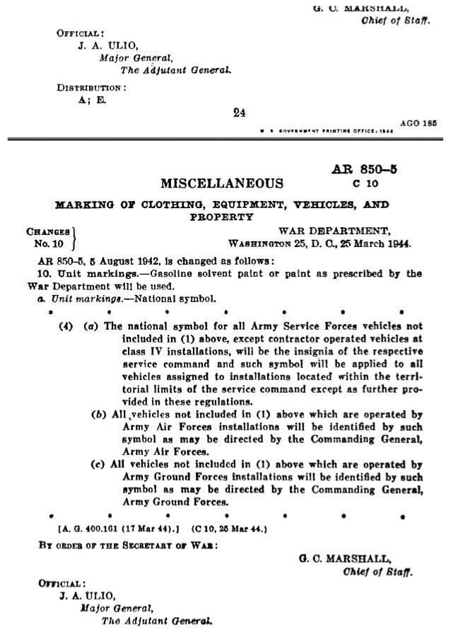LR 850-5 14-15  MARKING OI' CLOTHING.  EQUIPMENT.  VEHICLES.  AND l'. BO1'llR'I'Y  14. National symbol. —¢.  Grnsr-al. —'I...