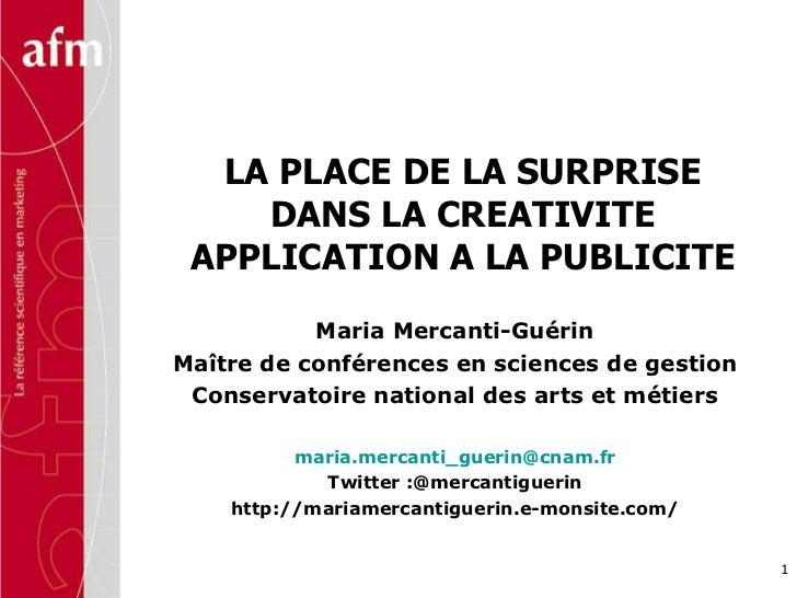 Maria Mercanti-Guérin Maître de conférences en sciences de gestion Conservatoire national des arts et métiers [email_addre...