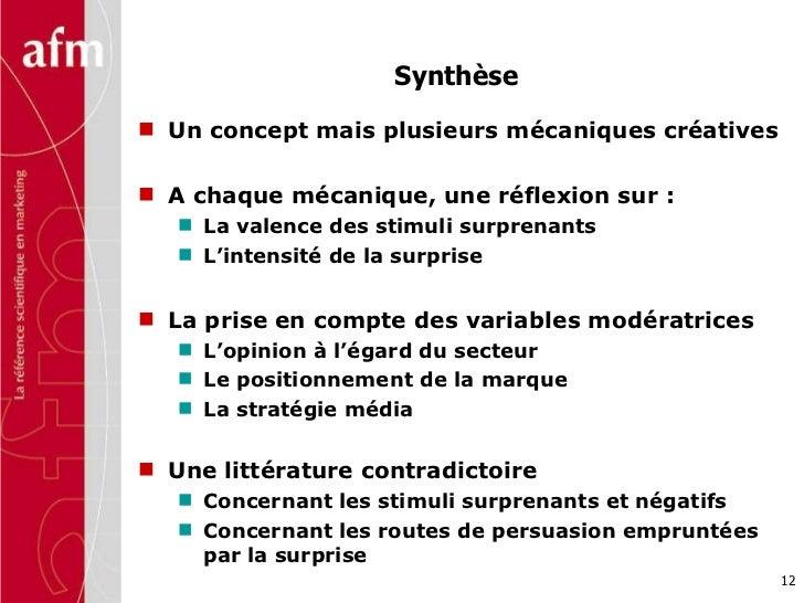 Synthèse <ul><li>Un concept mais plusieurs mécaniques créatives </li></ul><ul><li>A chaque mécanique, une réflexion sur : ...