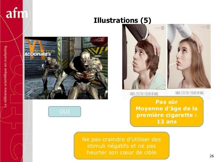 Illustrations (5) Ne pas craindre d'utiliser des stimuli négatifs et ne pas heurter son cœur de cible OUI Pas sûr Moyenne ...