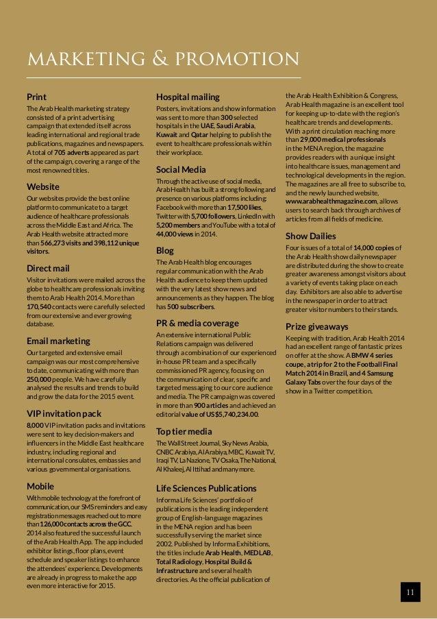 Arab Health Exhibition & Congress 2014 - Quick Facts